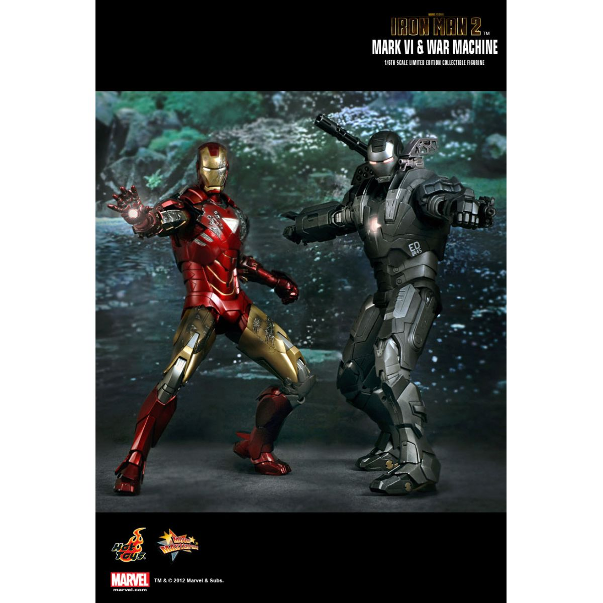 Iron Man 2 (Homem de Ferro) Mark VI Escala 1/6 - Hot Toys
