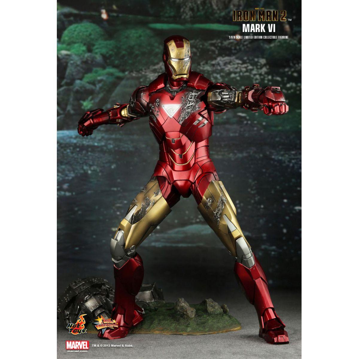 Action Figure Homem de Ferro (Iron Man) Mark VI: Homem de Ferro 2 (Iron Man 2) MMS132 (Escala 1/6) - Hot Toys - CDL