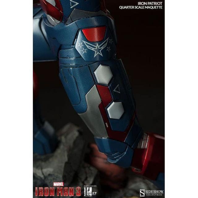 Estátua Patriota de Ferro (Iron Patriot): Homem de Ferro 3 (Iron Man 3) Maquette Escala 1/4 - Sideshow