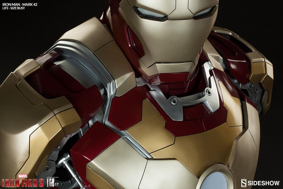 Iron Man 3 Life-Size Iron Man Mark 42 (Busto) - Sideshow