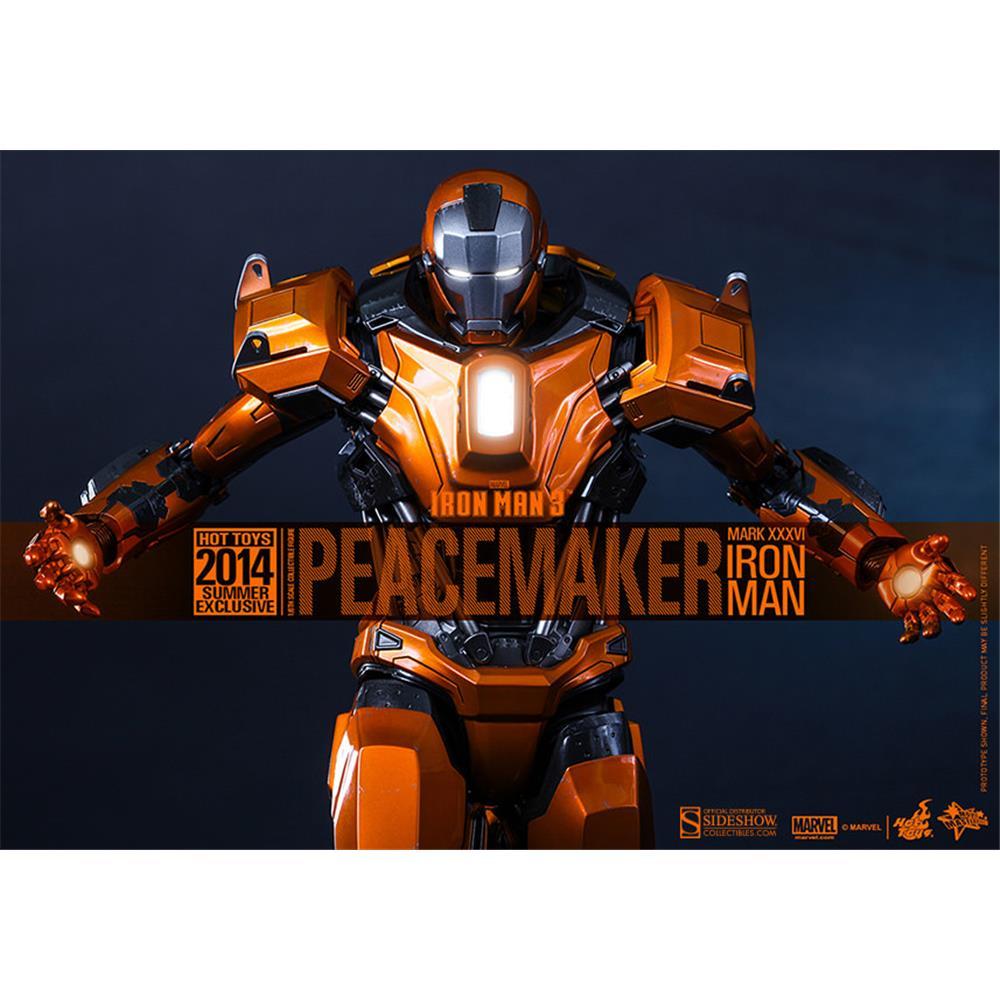 Boneco Peacemaker (Mark XXXVI): Homem de Ferro 3 (Iron Man 3) Escala 1/6 (MMS258) - Hot Toys - CG