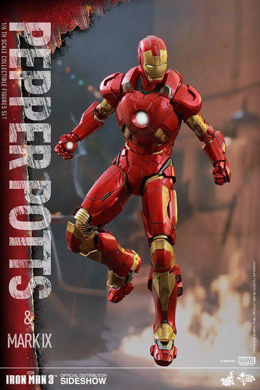 Iron Man 3 Pepper Potts e Mark IX Escala 1/6 - Hot Toys