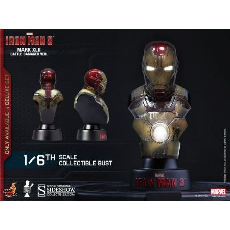 Iron Man Mark 42 Battle Damage Ver. Bust - Hot Toys