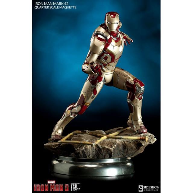 Iron Man Mark 42 Maquette by Sideshow Collectibes Escala 1/4 Estátua