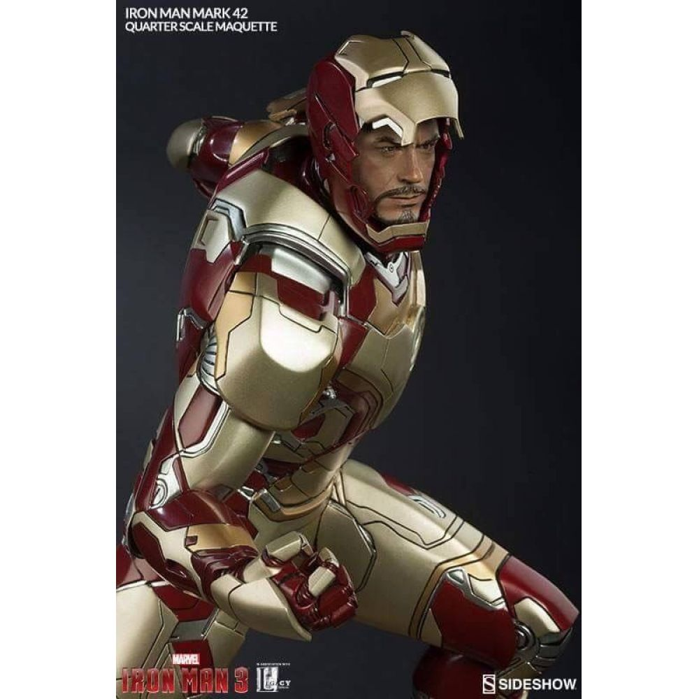 Iron Man Mark 42 Maquette by Sideshow Collectibes Escala 1/4 Estátua