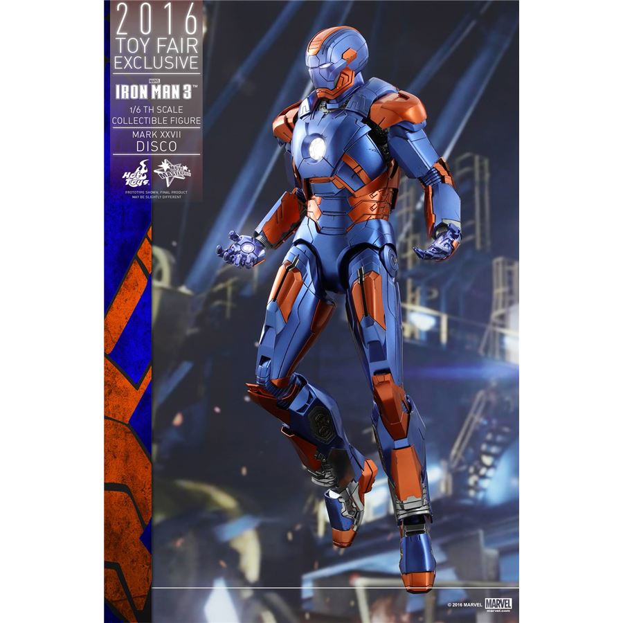 Boneco Iron Man Mark XXVII Disco: Iron Man 3 Escala 1/6 Exclusivo - Hot Toys