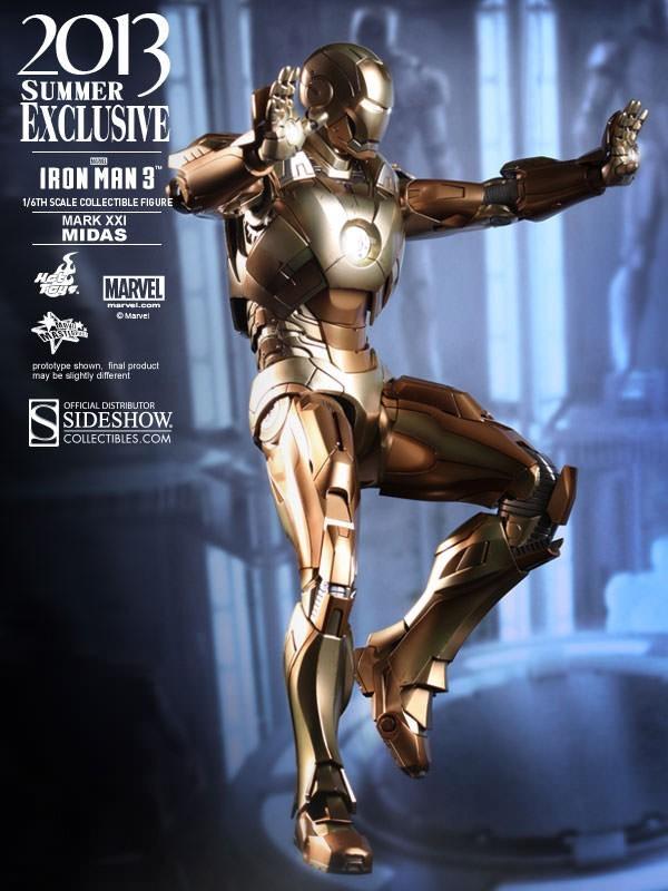 Iron Man (Homem de Ferro) Midas Mark XXI (Versão Exclusiva) - Sideshow