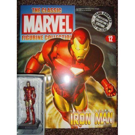 Iron Man with Figure Revista Edição 12 - Eaglemoss