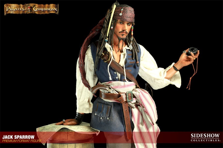 "Estátua Jack Sparrow ""Piratas do Caribe"" - SideShow Collectibles"
