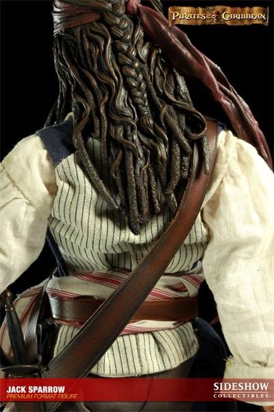Estátua Jack Sparrow: Piratas do Caribe (Pirates of the Caribbean) Premium Format (Escala 1/4) - Sideshow