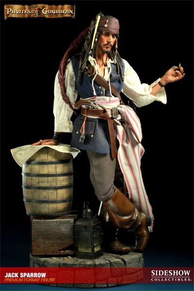 Estátua Jack Sparrow: Piratas do Caribe (Pirates of the Caribbean) Premium Format (Escala 1/4) - Sideshow