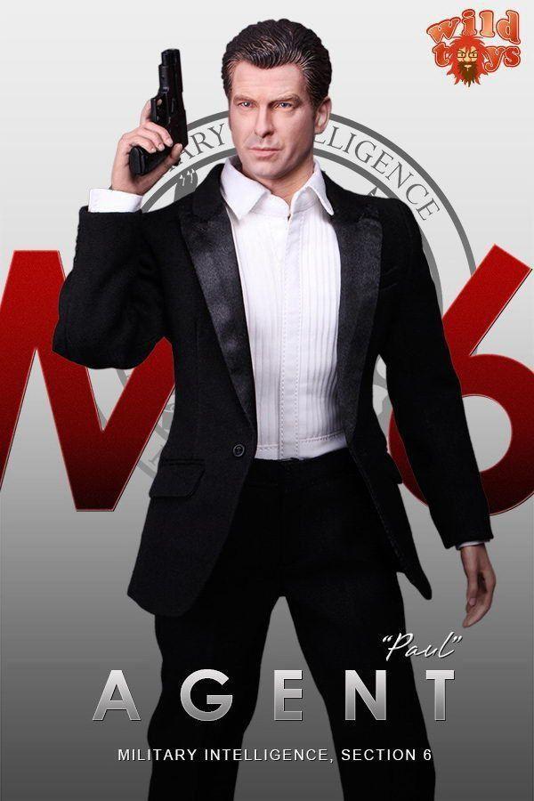 Action Figure James Bond (Agent Paul): 007 (MI6 Military Intelligence) Escala 1/6 - Wild Toys