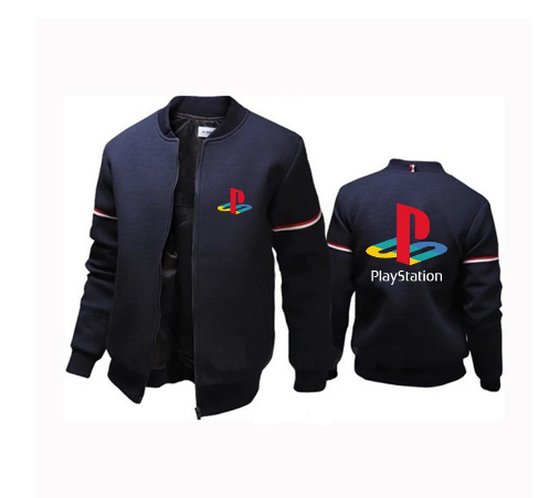 Jaqueta Bomber College Casaco Colegial Playstation (Preta) - MKP