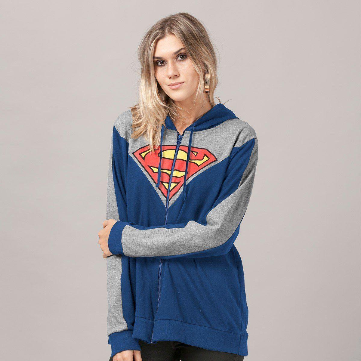 Jaqueta de Moletom Superman Logo