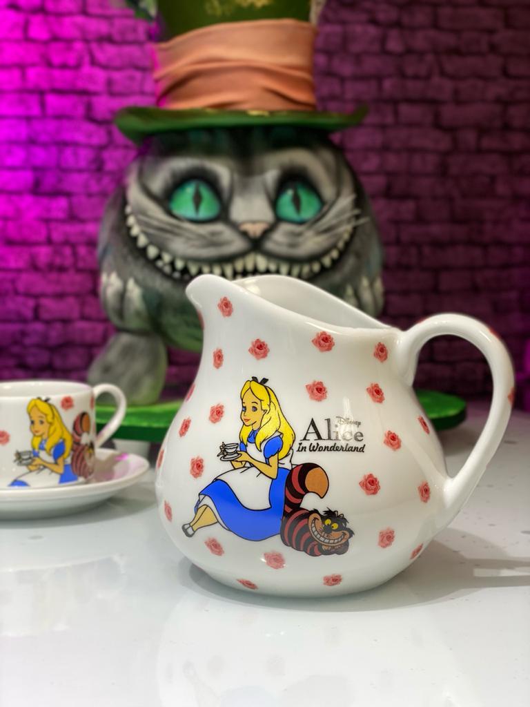 Jarra Alice: Alice No País Das Maravilhas Branca 700ml - Disney - EV