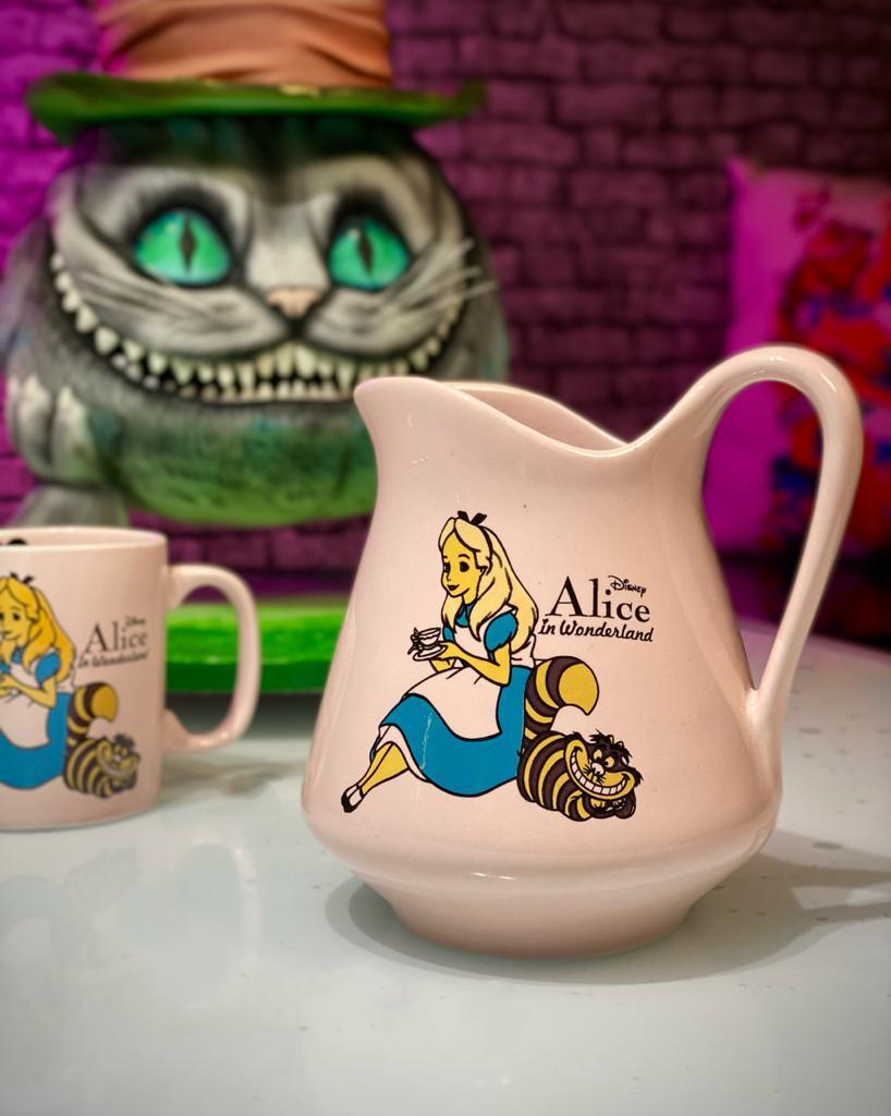 Jarra Alice: Alice No País das Maravilhas Rosa 500ml - Disney - EV