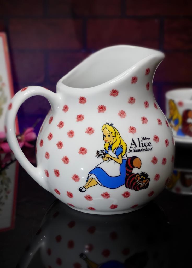 Jarra Princesa Alice: Alice No País Das Maravilhas Branca 1L - Disney