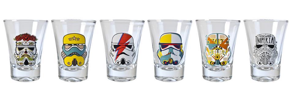 Jogo 6 copos Shot Stormtrooper Pop Art - NF