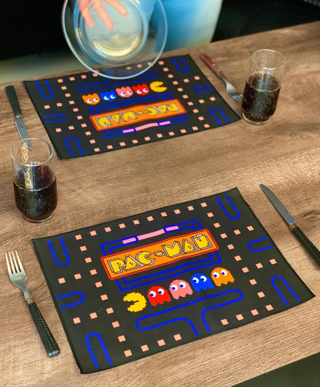 Jogo Americano: Pac- Man (Kit com 02 Unid)