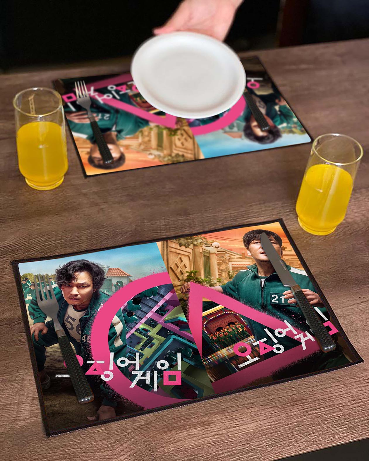 Jogo Americano Round 6 Squid Game Lee Jung-Jae Park Hae Soo Netflix (Kit com 02 Unid) - EV