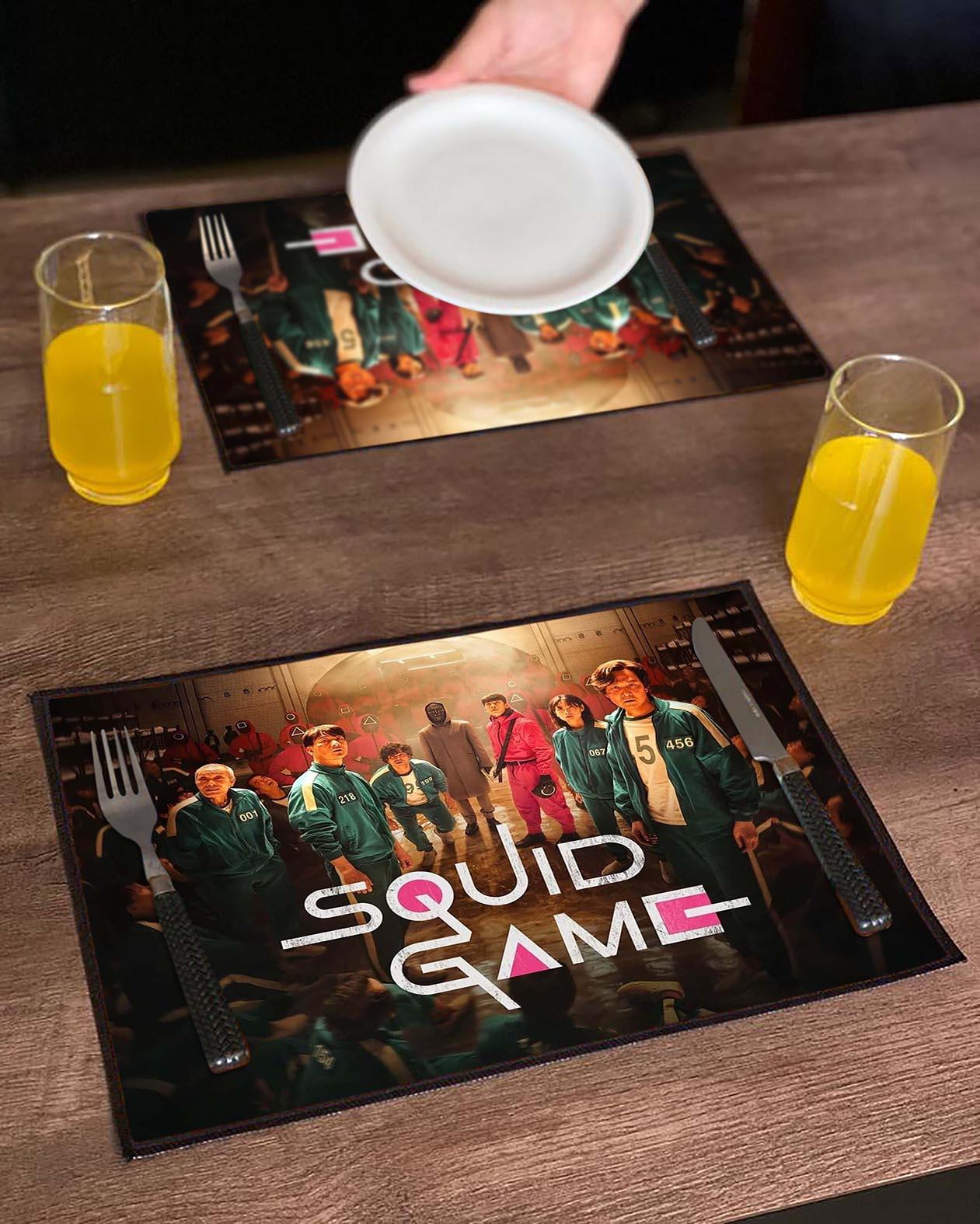 Jogo Americano Round 6 Squid Game Poster Netflix (Kit com 02 Unid) - EV