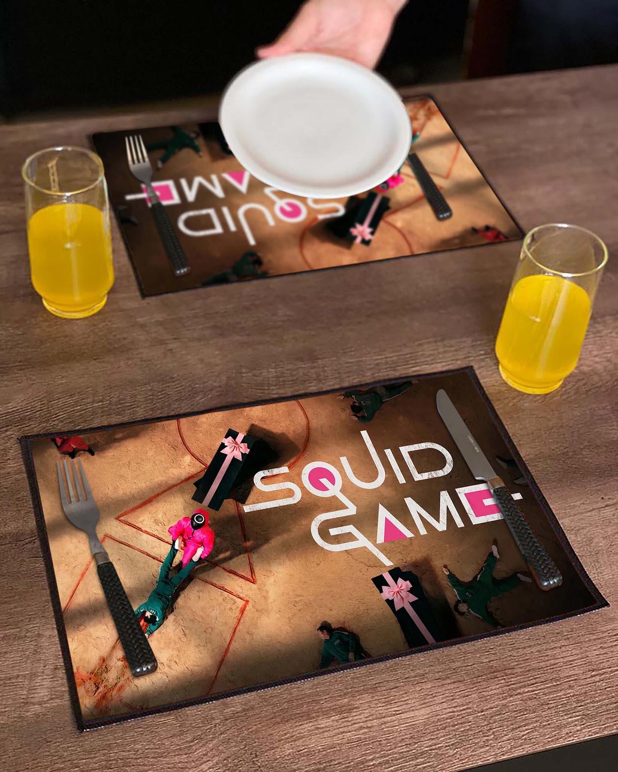 Jogo Americano Round 6 Squid Game Poster Símbolos Netflix (Kit com 02 Unid) - EV