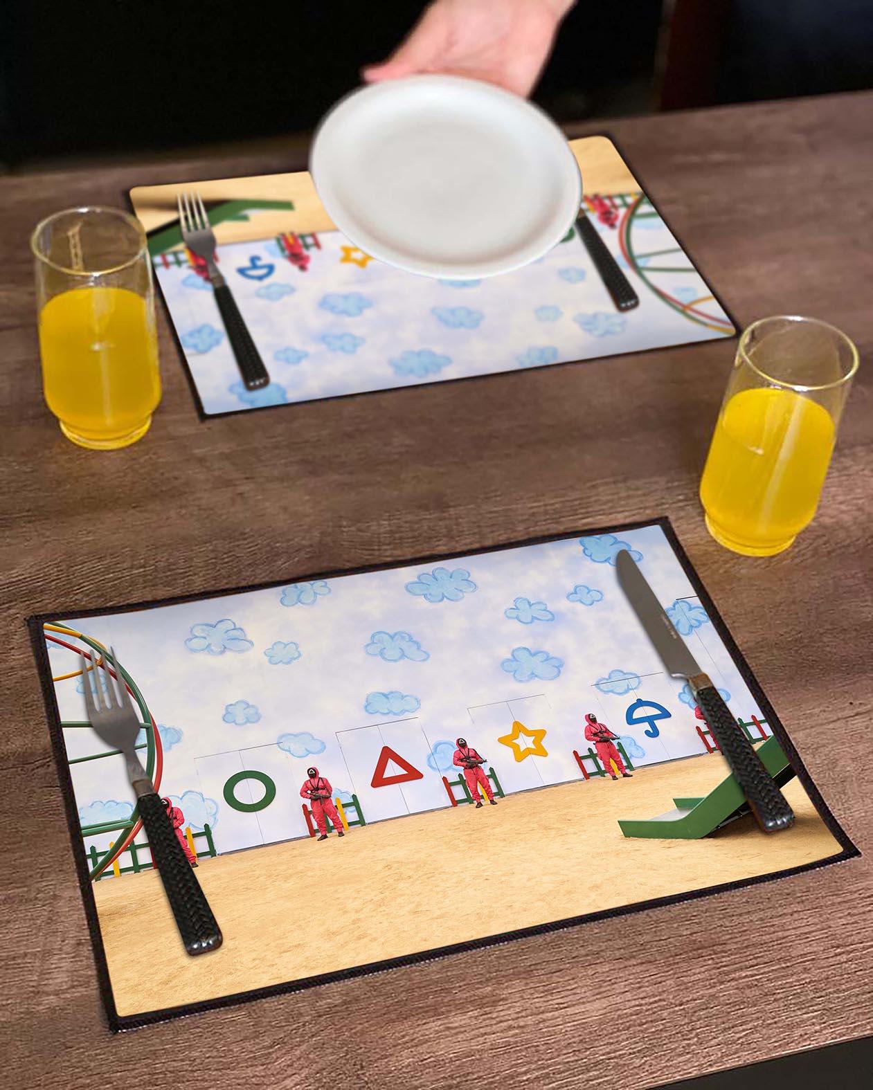 Jogo Americano Round 6 Squid Game Símbolos Jogo Biscoito Netflix (Kit com 02 Unid) - EV