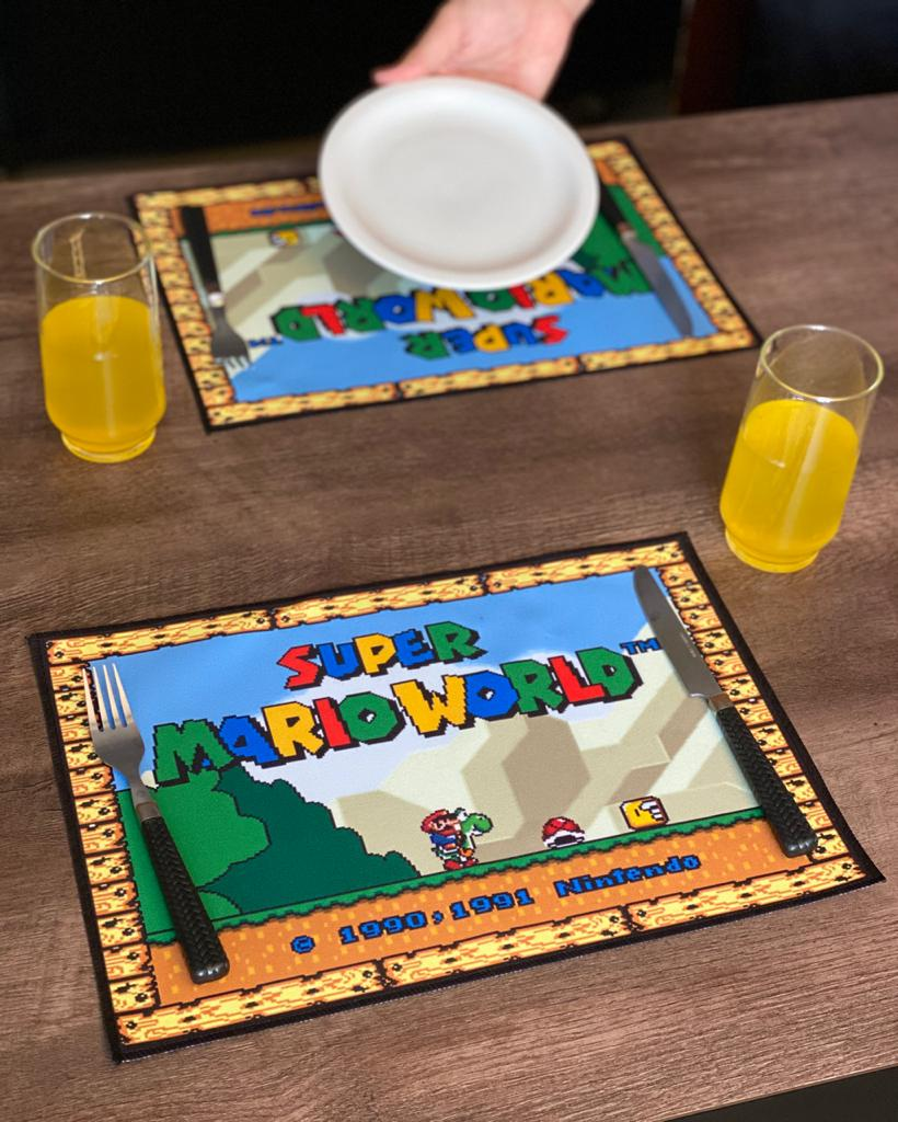 Jogo Americano: Super Mario World: (Kit com 02 Unid) - EV