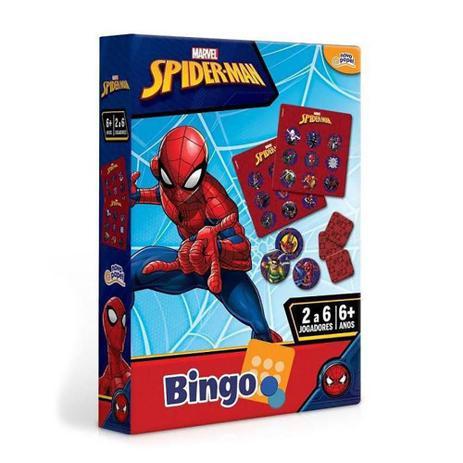 Jogo Bingo Homem Aranha Marvel: 6+ - Hasbro