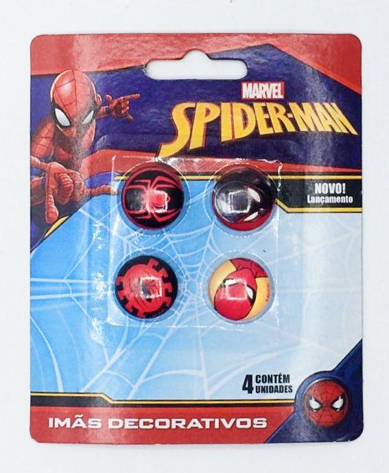 Jogo Com 4 Imãs (Sortidos): Homem-Aranha (Spider-Man) - Marvel