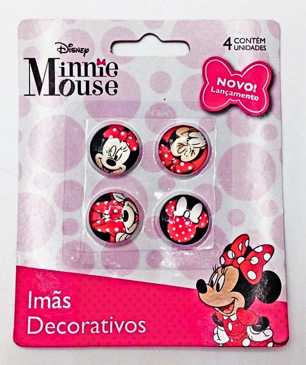 Jogo Com 4 Imãs (Sortidos): Minnie Mouse - Disney