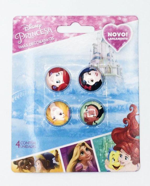 Jogo Com 4 Imãs (Sortidos): Princesas - Disney
