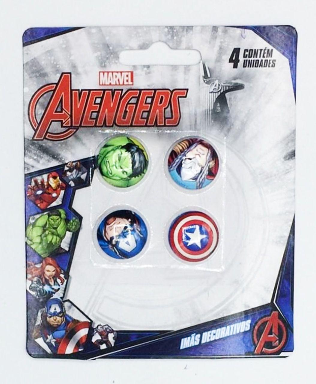 Jogo Com 4 Imãs (Sortidos): Vingadores (Avengers) - Marvel