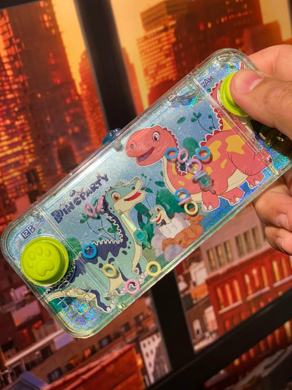 Jogo de Argolas Mini Game de Água Aquaplay Dinossauro Anti Estresse Pop It Fidget Bubble Stress Ball Wacky Track SquishMallow Sensorial de Alívio de Stress - EV