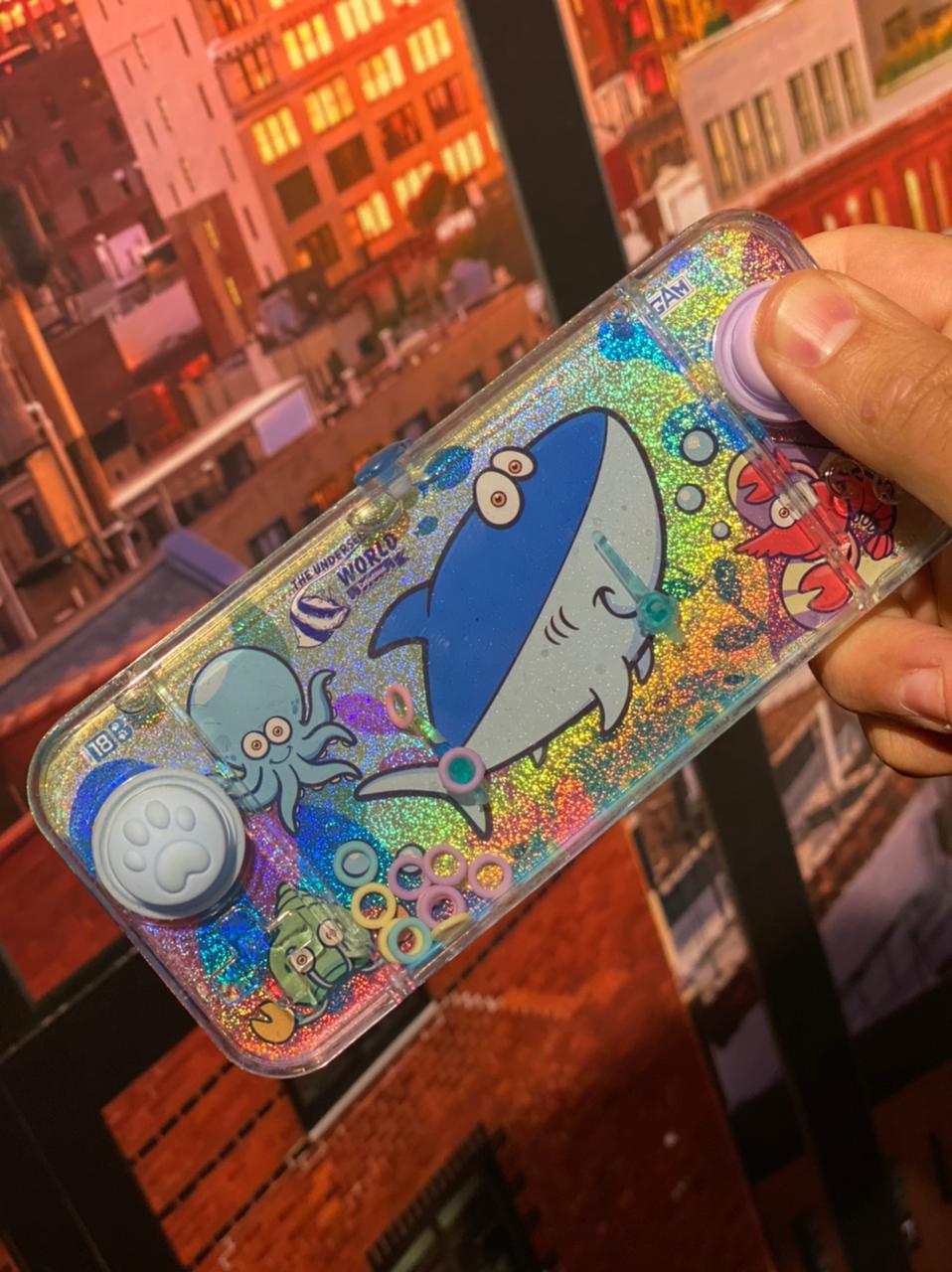 Jogo de Argolas Mini Game de Água Aquaplay Tubarão Anti Estresse Pop It Fidget Bubble Stress Ball Wacky Track SquishMallow Sensorial de Alívio de Stress  - EV