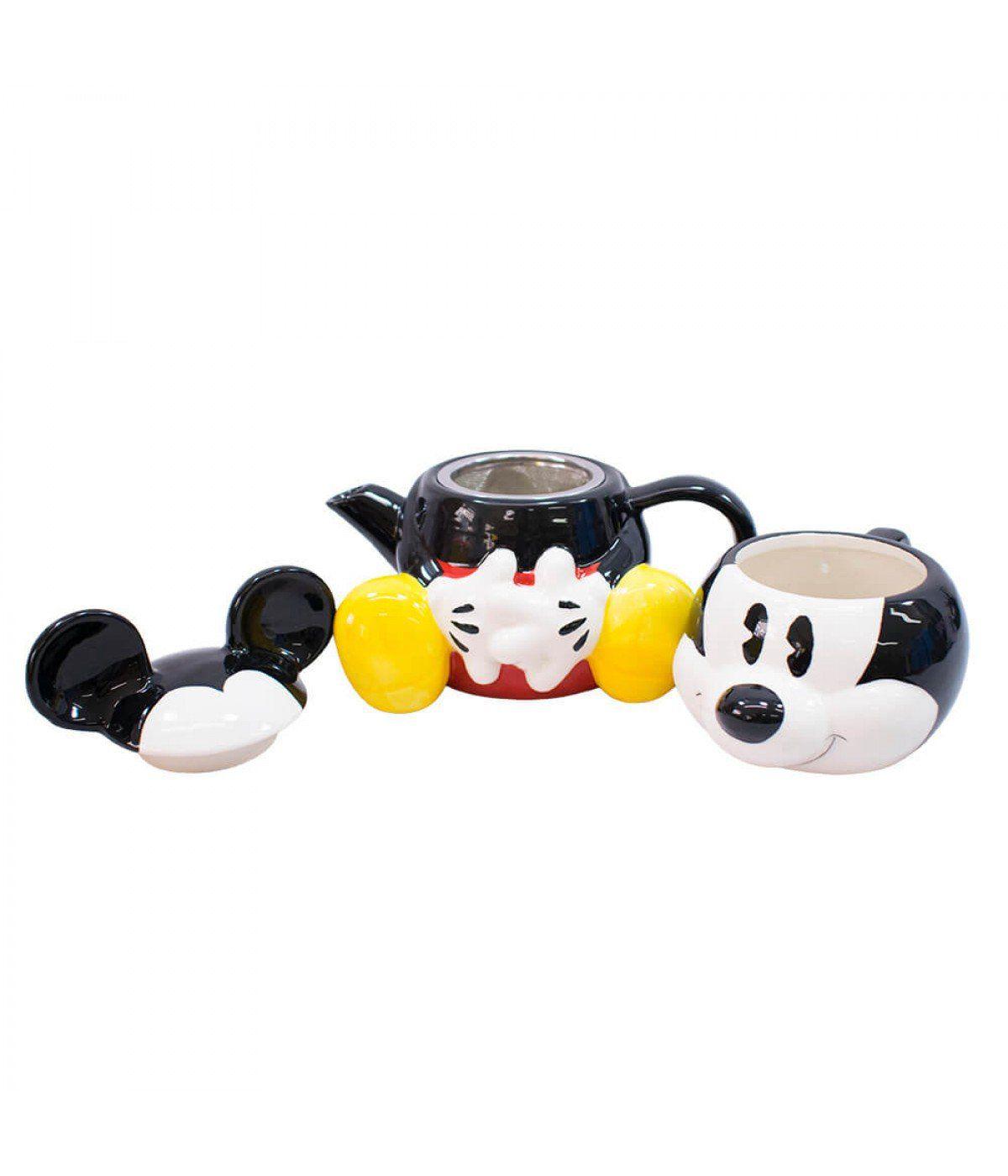 Jogo de Bule (720ml) e Caneca (210ml) Mickey Mouse: Disney