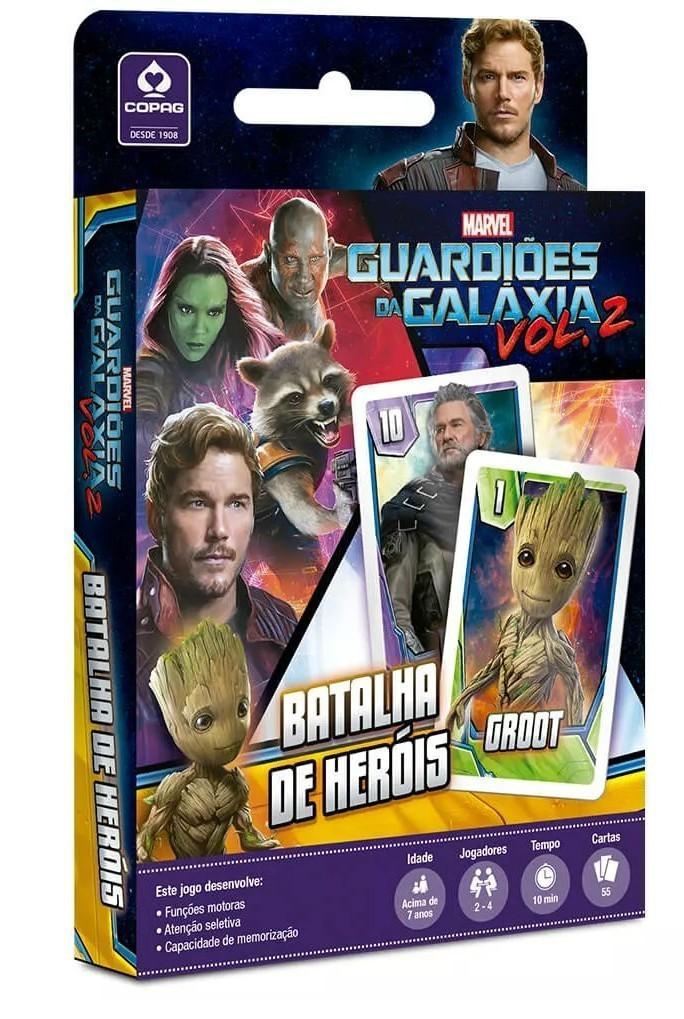 Jogo de Carta Batalha de Heróis: Guardiões da Galáxia Vol II - Copag