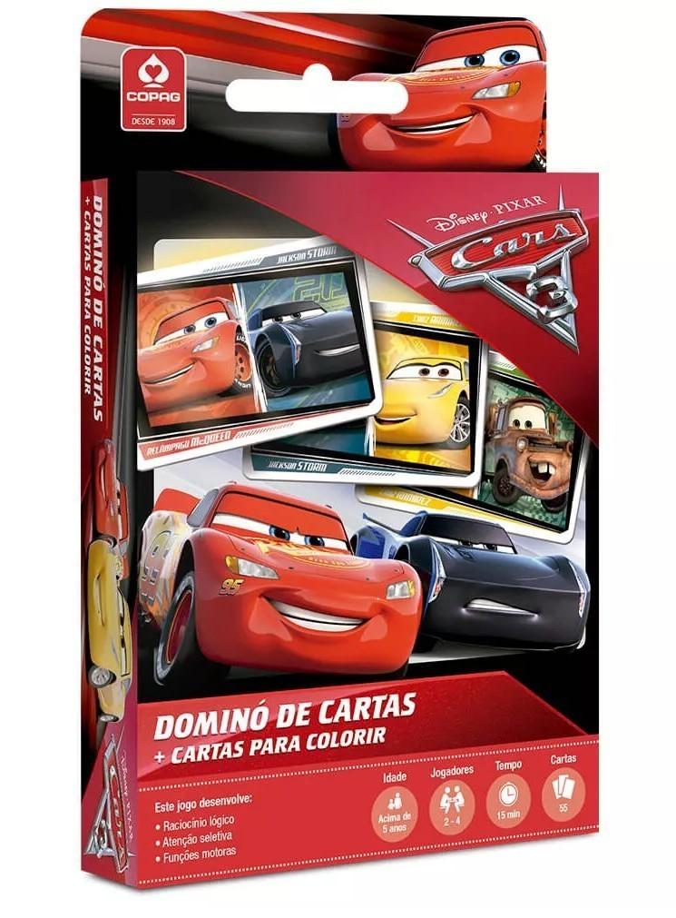 Jogo de Carta Dominó: Carros 3 - Copag