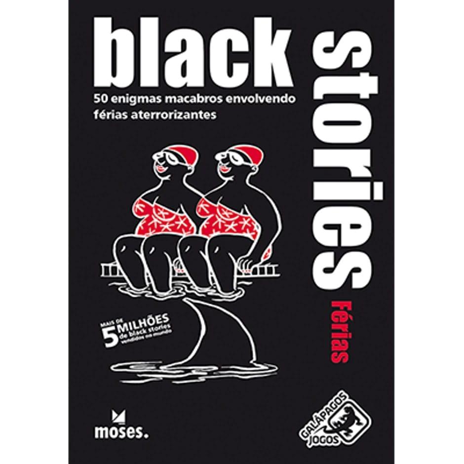 Jogo de Cartas (Board Games - Boardgames) Black Stories Férias - Galápagos Jogos