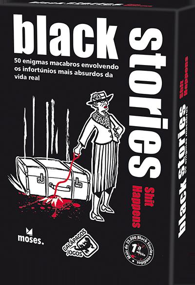 Jogo de Cartas (Board Games - Boardgames) Black Stories Shit Happens - Galápagos Jogos