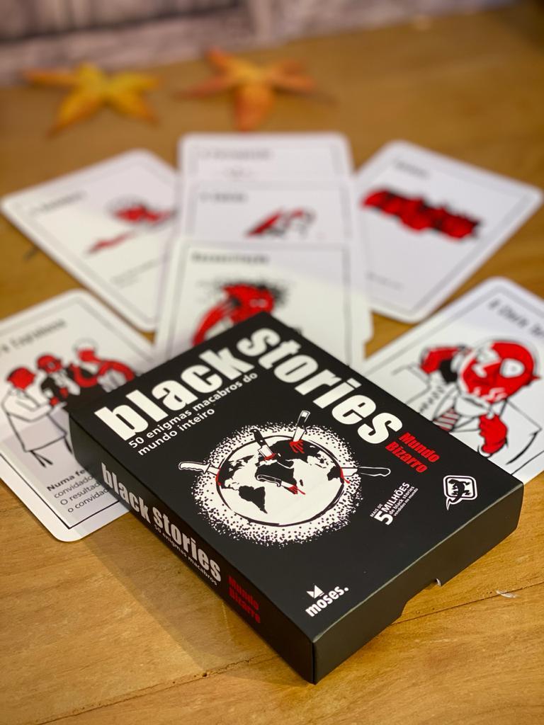 Jogo de Cartas (Board Games) Black Stories Mundo Bizarro - Galápagos Jogos