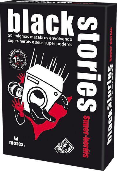 Jogo de Cartas (Board Games) Black Stories Super-Heróis - Galápagos Jogos