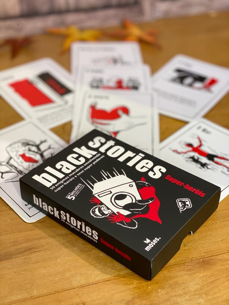 Jogo de Cartas (Board Games) Black Stories Super-Heróis - Galápagos Jogos  - Toyshow Geek e Colecionáveis Tudo em Marvel DC Netflix Vídeo Games