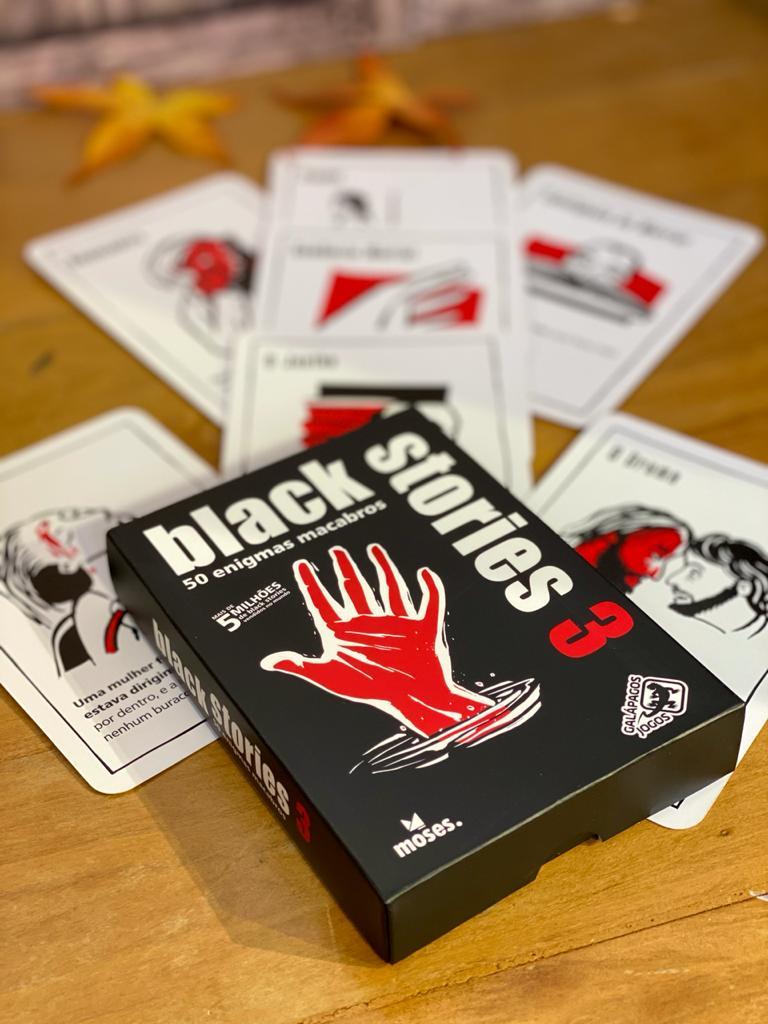 Jogo de Cartas (Board Games - Boardgames) Black Stories 3 - Galápagos Jogos