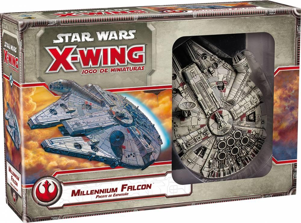 Jogo de Cartas (Board Games - Boardgames) Millennium Falcon (Expansão Star Wars X-Wing) - Galápagos Jogos
