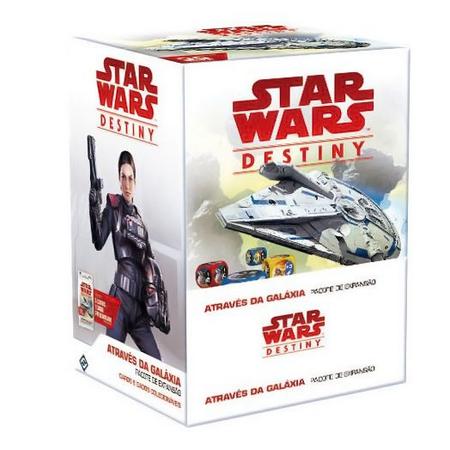 Jogo de Cartas (Board Games - Boardgames) Star Wars Destiny - Através da Galáxia (Pacote de Expansão) - Galápagos Jogos - CD