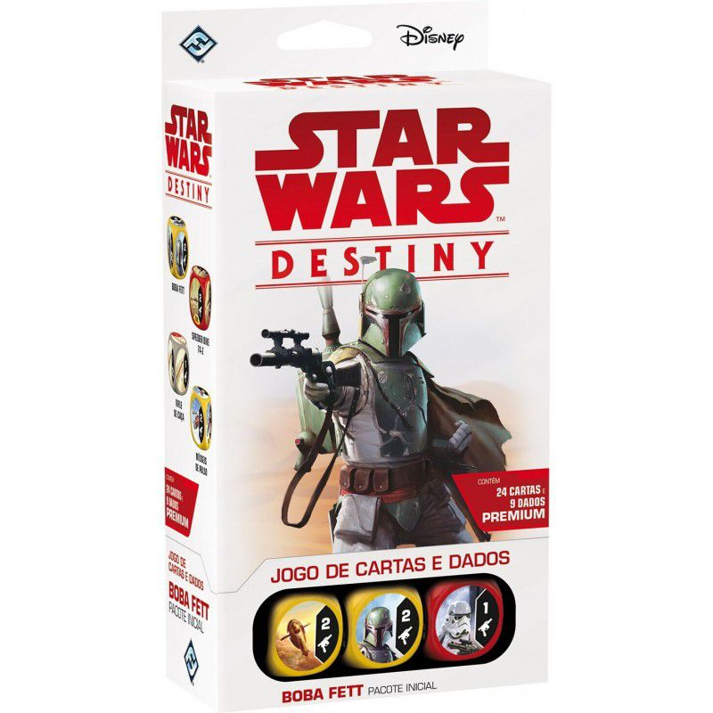 Jogo de Cartas (Board Games - Boardgames) Star Wars Destiny - Boba Fett (Pacote Inicial) - Galápagos Jogos - CD