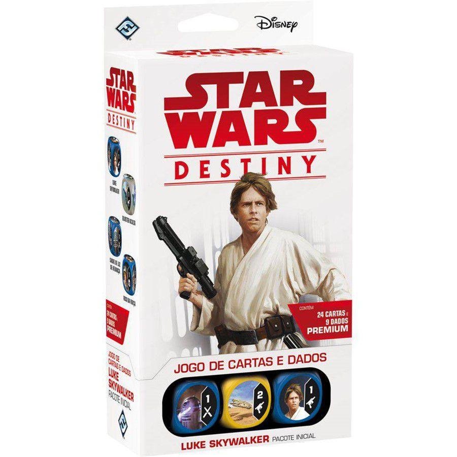 Jogo de Cartas (Board Games - Boardgames) Star Wars Destiny - Luke Skywalker (Pacote Inicial) - Galápagos Jogos - CD