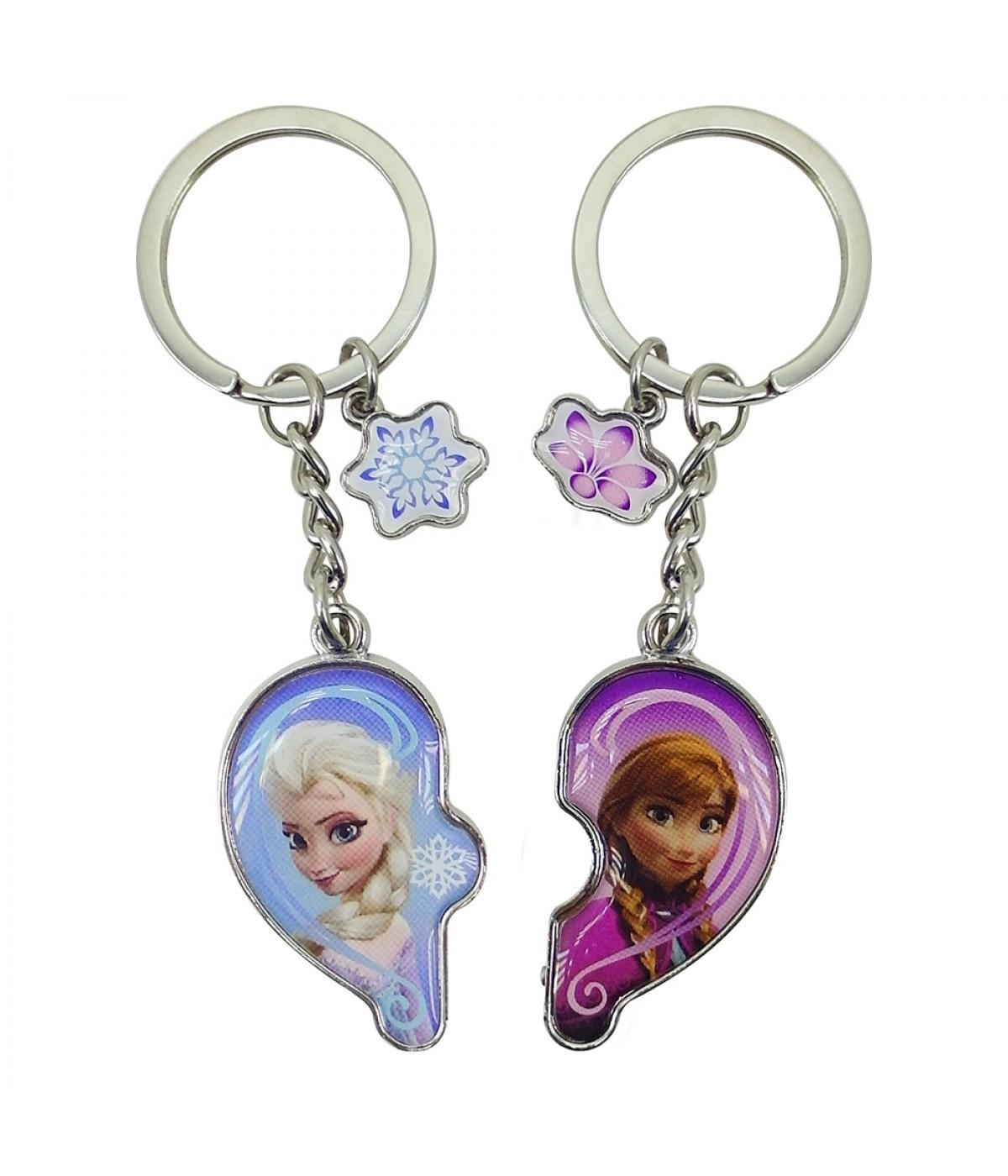 Jogo de Chaveiros Elsa e Anna Frozen - Disney