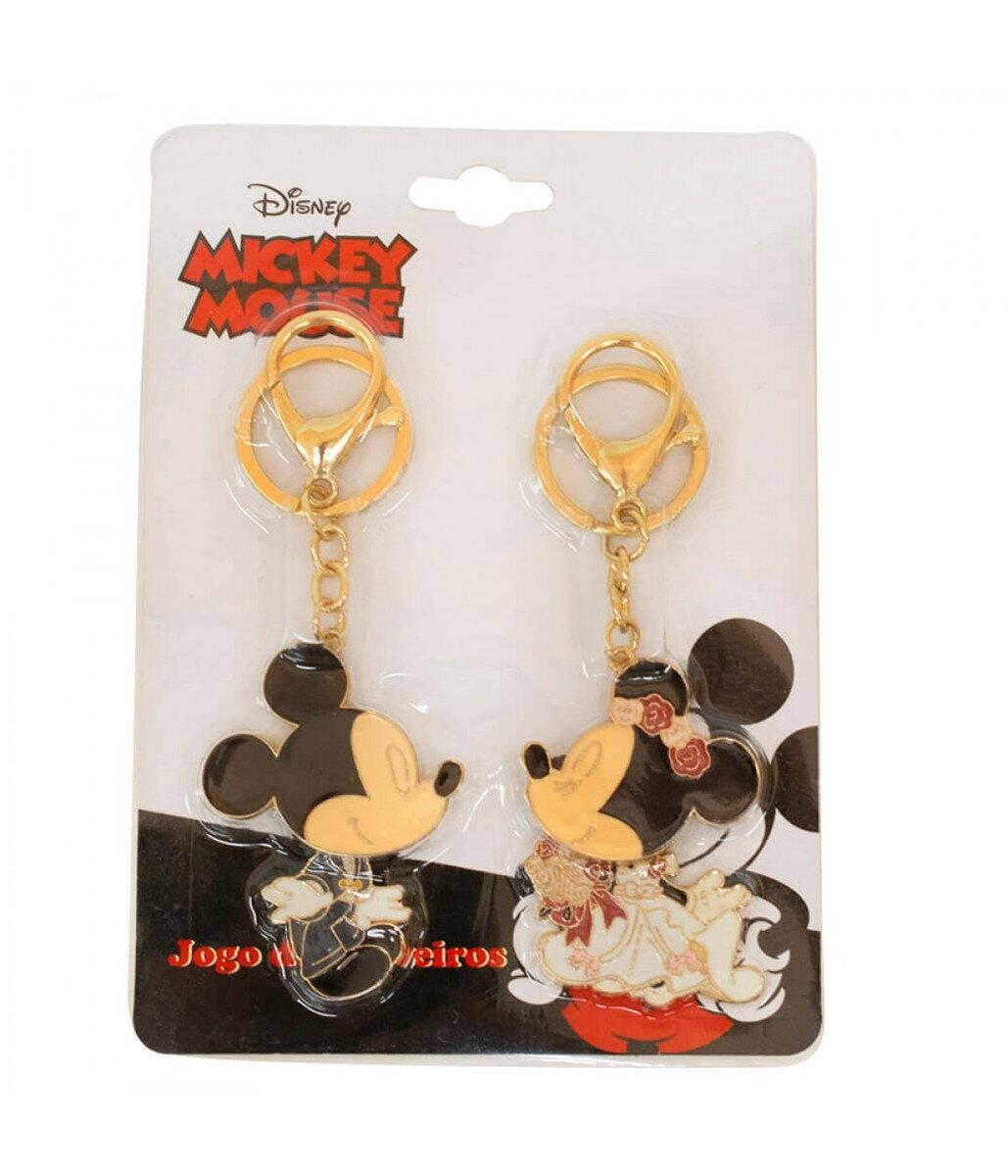 Jogo de Chaveiros Noivos Mickey & Minnie: Mickey e Minnie Mouse - Disney